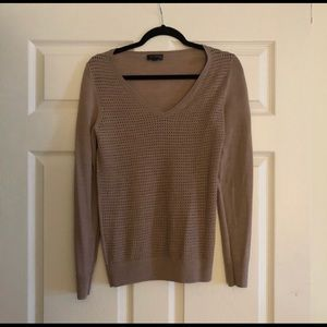 EUC! The Limited perforated knit V-Neck sweater